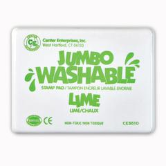 JUMBO STAMP PAD LIME GREEN WASHABLE