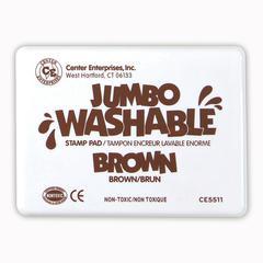 CENTER ENTERPRISES JUMBO STAMP PAD BROWN WASHABLE