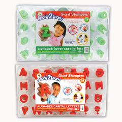 CENTER ENTERPRISES READY2LEARN GIANT ALPHABET LETTERS STAMPERS SET INCLUDES CE-6711&6712