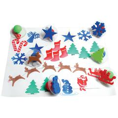 CENTER ENTERPRISES GIANT CHRISTMAS STAMPS SET OF 10