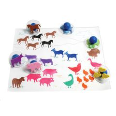READY2LEARN GIANT 10PK FARM ANIMALS STAMPS