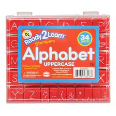 VISUAL CLOSURE 1 UPPER MANUSCRIPT SET ALPHABET STAMPS