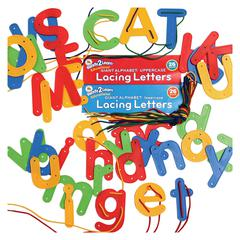 CENTER ENTERPRISES READY2LEARN LACING LETTERS SET OF UPPER AND LOWER