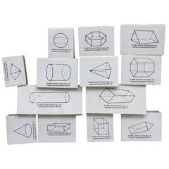 STAMP SET THREE DIMENSIONAL 13/PK GEOMETRIMC SHAPES