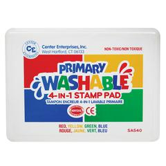 CENTER ENTERPRISES STAMP PAD PRIMARY WASHABLE RED BLUE YELLOW GREEN