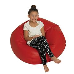 ROUND BEAN BAG 35IN RED