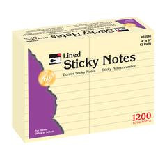 CHARLES LEONARD STICKY NOTES 4X6 LINED