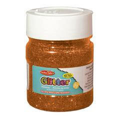 CREATIVE ARTS GLITTER 4OZ JAR ORNG