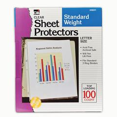 CHARLES LEONARD SHEET PROTECTORS CLEAR BOX OF 100