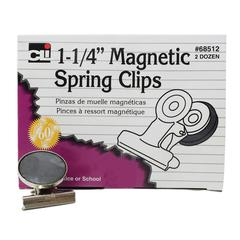 CHARLES LEONARD MAGNETIC SPRING CLIPS 1 1/4 BOX-24 1 EACH