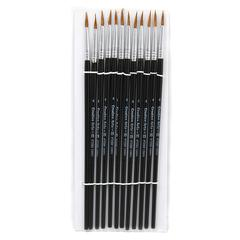 BRUSHES WATER COLOR POINTED #4 9/16 CAMEL HAIR 12 CT