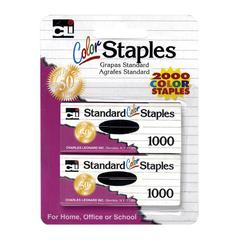 CLI Chisel Pt Standard Colored Staples - Standard - Chisel Point - Assorted - 1 / Pack