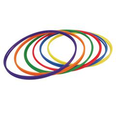 CHAMPION SPORTS PLASTIC HOOPS 30IN 12PK 2 EACH OF 6 COLORS