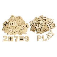 PACON WOOD LETTERS & NUMBERS