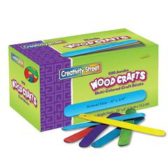 PACON JUMBO CRAFT STICKS 500 PCS BRIGHT HUES