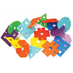 PACON WONDERFOAM GIANT DESIGN SHAPES 7IN W 40 PIECE SET