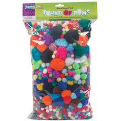 PACON POM PONS ASSORTED 1 LB. BAG