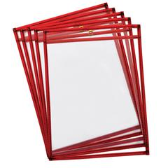 PACON REUSABLE DRY ERASE POCKETS 10PK FLUORESCENT RED