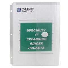 C-LINE PRODUCTS BINDER POCKET 10PK HOOK & LOOP CLOSURE CLEAR
