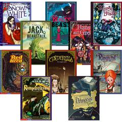 CAPSTONE / COUGHLAN PUB GRAPHIC SPIN FAIRY TALES BOOKS SET OF ALL 10