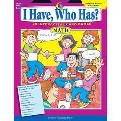 CREATIVE TEACHING PRESS MATH GR 3-4 I HAVE WHO HAS SERIES