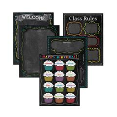 CHALK IT UP CLASSROOM ESSENTIALS CHART PACK