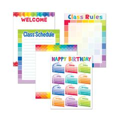 CREATIVE TEACHING PRESS PAINTED PALETTE CLASSROOM ESSENTIALS CHART PACK