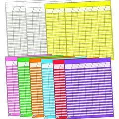 CREATIVE TEACHING PRESS CHART BIG TEN LARGE VERTICAL 10/PK 22 X 28 ASSORTED