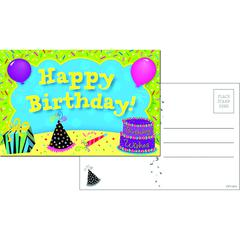 CREATIVE TEACHING PRESS HAPPY BIRTHDAY POSTCARDS 30 PK