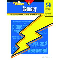 CREATIVE TEACHING PRESS POWER PRACTICE GEOMETRY GR 5-8