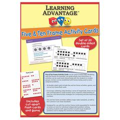 LEARNING ADVANTAGE FIVE & TEN FRAME ACTIVITY CARDS