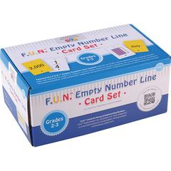 LEARNING ADVANTAGE FUN EMPTY NUMBER LINE CARDS ONLY GR 2-3