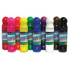 CRAFTY DAB WINDOW PAINTS & 10/PK WINDOW WRITERS