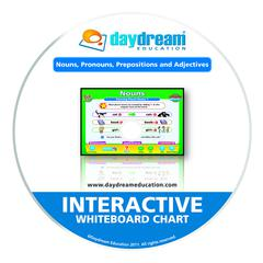 DAYDREAM EDUCATION NOUNS PRONOUNS & ADJECTIVES INTERACTIVE WHITEBOARD CHARTS