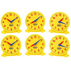 DIDAX 5IN STUDENT CLOCKS SET OF 6