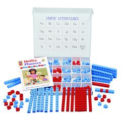 DIDAX UNIFIX LETTER CUBES LARGE GROUP WORD BUILDING CENTER