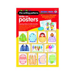 DIDAX PRE WRITING PATTERN POSTERS 12 SET