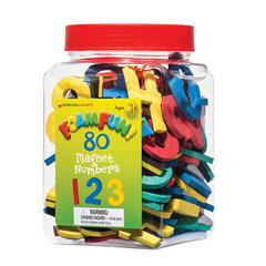 DOWLING MAGNETS 80 FOAM FUN MAGNET NUMBERS