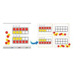DOWLING MAGNETS TEN FRAMES MAGNET MATH SET