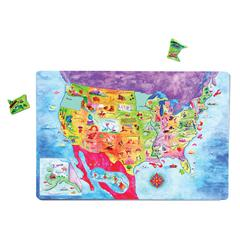 DOWLING MAGNETS GEOPUZZLE MAGNETIC USA MAP 12X18