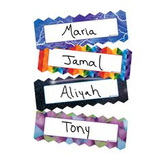 ZIGZAG & LIGHTING MAGNETIC NAME PLATES