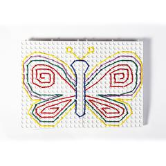 POLYDRON THREADING BOARDS WHITE BOARDS WITH PRIMARY LACES
