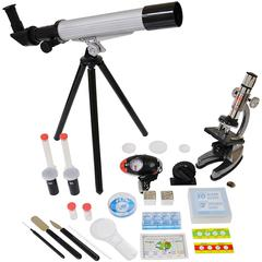 ELENCO ELECTRONICS MICROSCOPE & TELESCOPE SET WITH SURVIVAL KIT