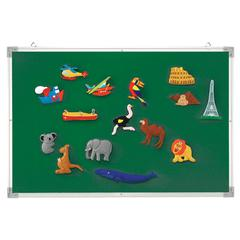 LEARNING RESOURCES 3-IN-1 FLANNEL/MAGNETIC/WIPE-OFF BOARD
