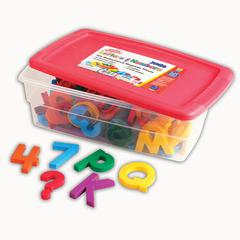 JUMBO ALPHA & MATHMAGNETS 100 PCS MULTICOLORED