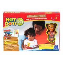 HOT DOTS TOTS ALL KINDS OF BABIES INTERACTIVE BOARD BOOK SET W/ PEN