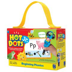LEARNING RESOURCES HOT DOTS JR CARDS BEGINNING PHONICS