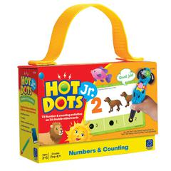 LEARNING RESOURCES HOT DOTS JR CARDS NUMBERS COUNTING