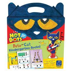 LEARNING RESOURCES HOT DOTS JR PETE THE CAT KINDERGARTEN ROCKS & PEN
