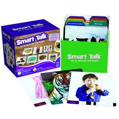 LEARNING RESOURCES SMART TALK CARD SET SET 3 ANIMALS & PEOPLE